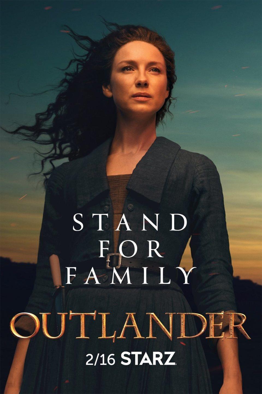 Cartel Temporada 5 - Claire de 'Outlander'