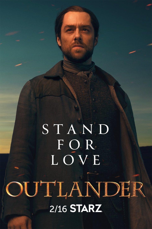 Cartel Temporada 5 - Roger de 'Outlander'