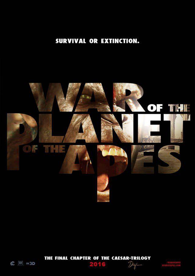 Cartel Internacional de 'El Planeta de los Simios: La Guerra'