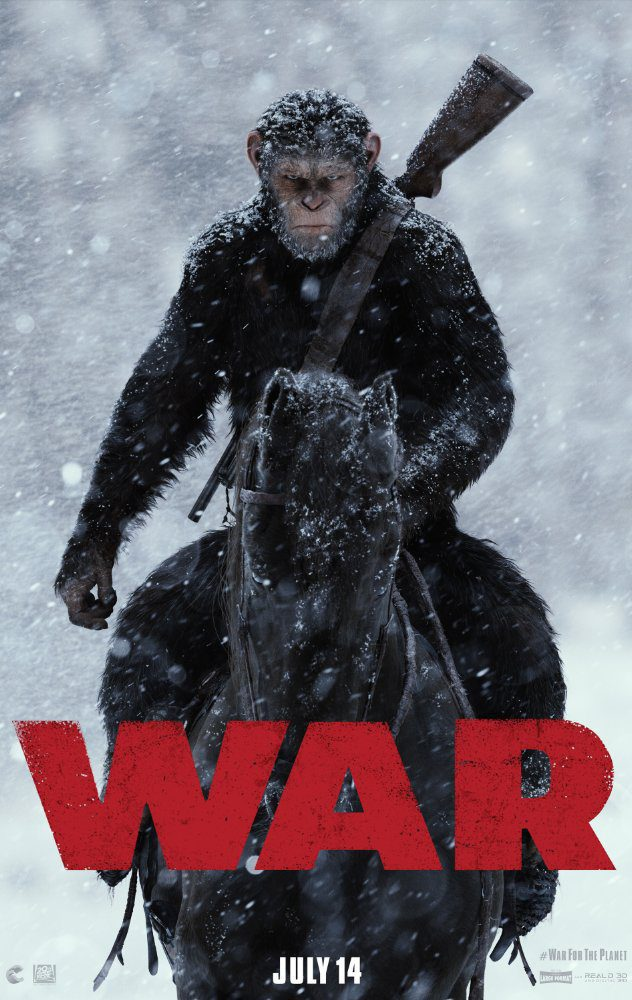 Cartel EE.UU. de 'El Planeta de los Simios: La Guerra'