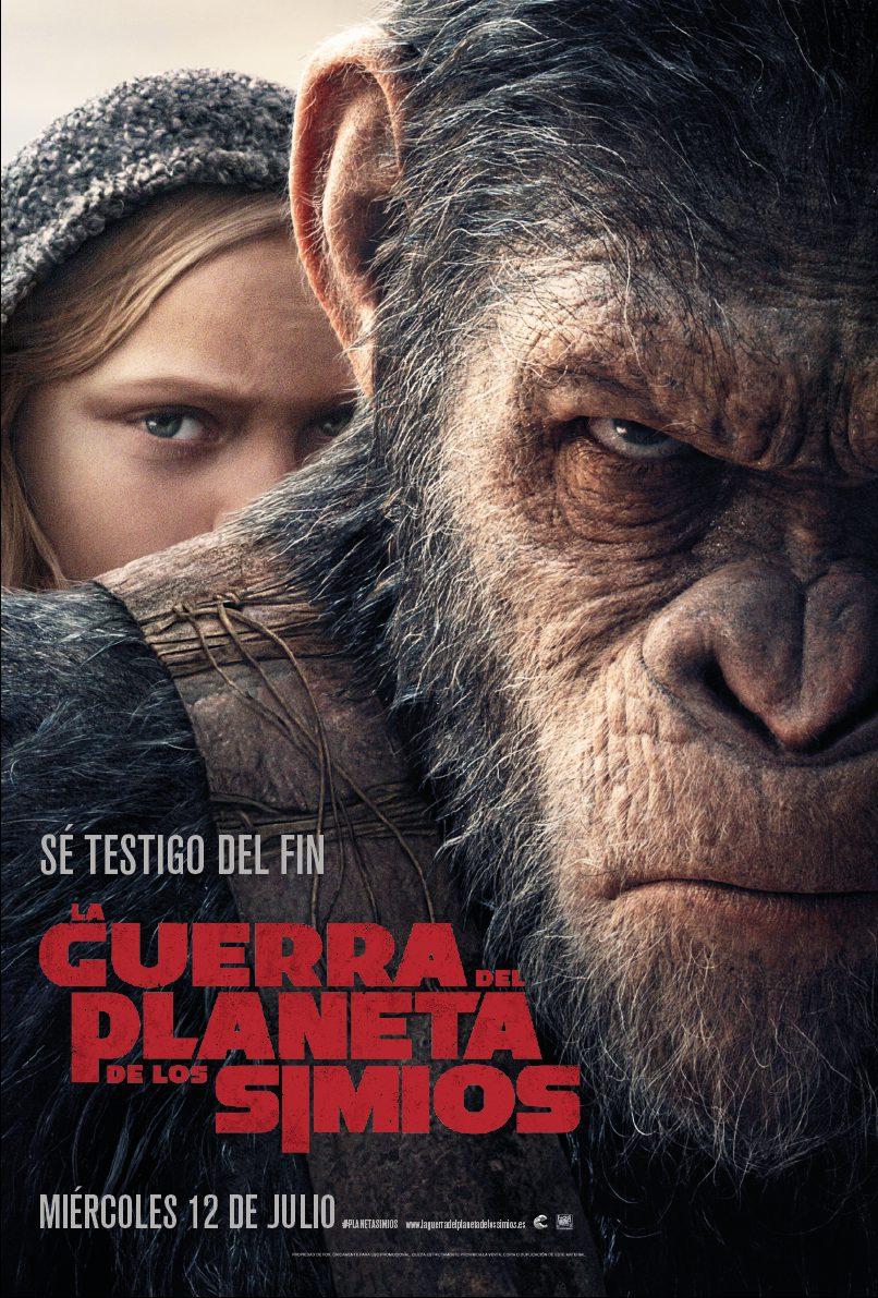 Cartel España de 'El Planeta de los Simios: La Guerra'