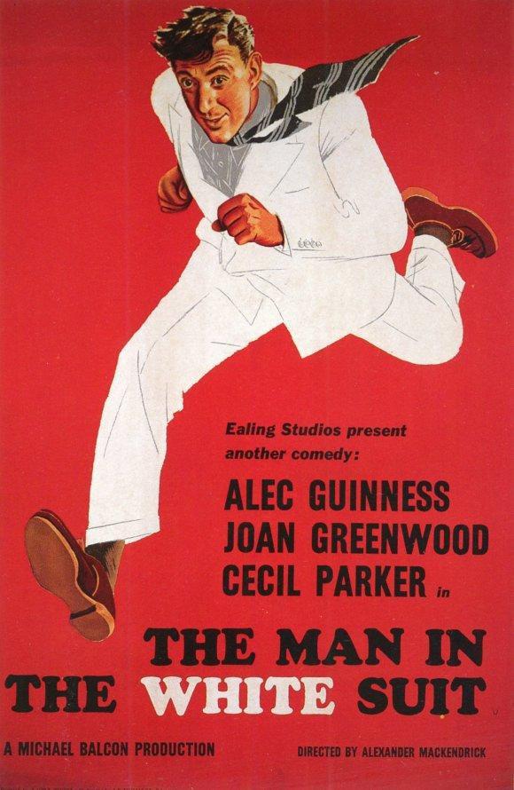 Cartel Reino Unido de 'El hombre vestido de blanco'
