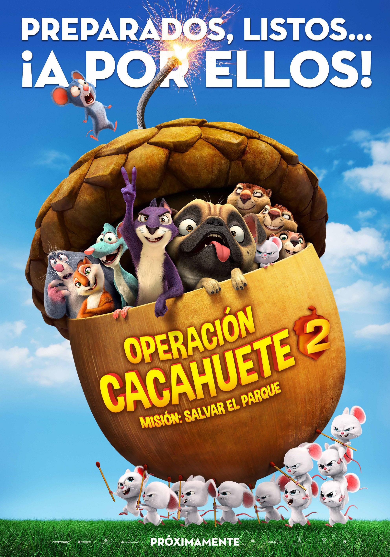 Cartel España de 'Locos por las nueces 2'
