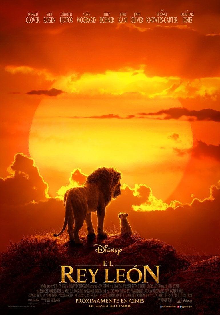 Cartel Póster español 'El Rey León' de 'El rey león'