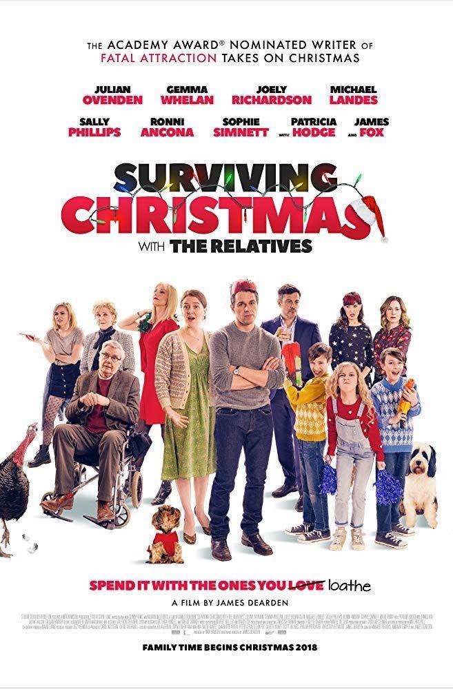 Cartel Reino Unido de 'Surviving Christmas with the Relatives'