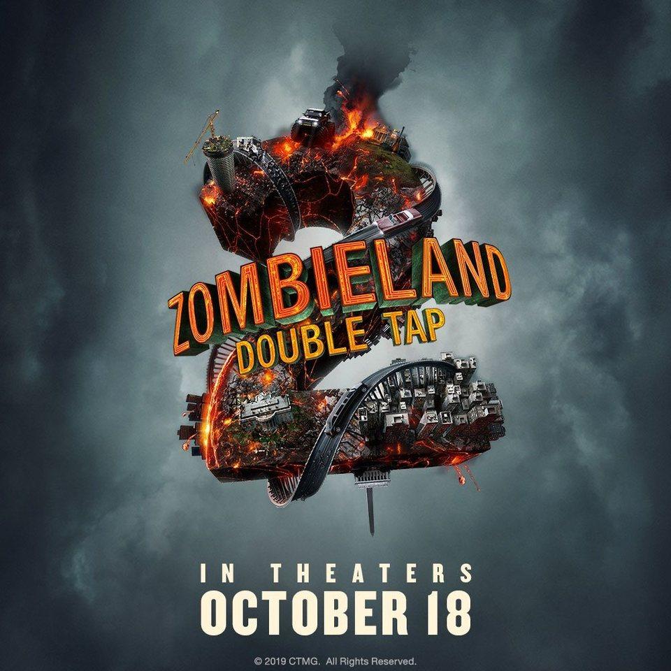Cartel Teaser con fecha de estreno de 'Zombieland 2: Tiro de gracia'