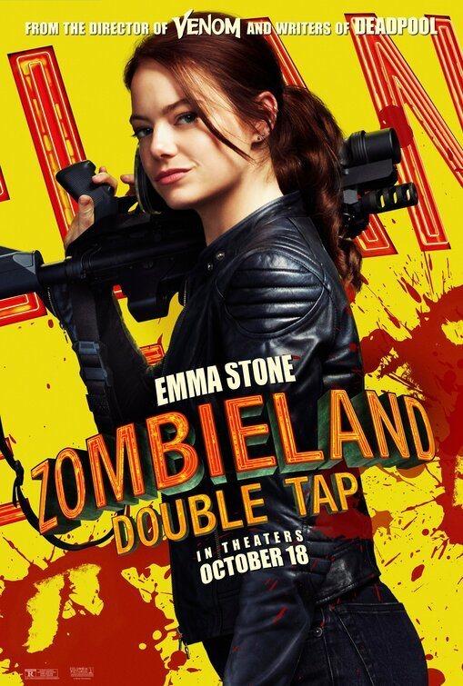 Cartel Emma Stone de 'Zombieland 2: Tiro de gracia'