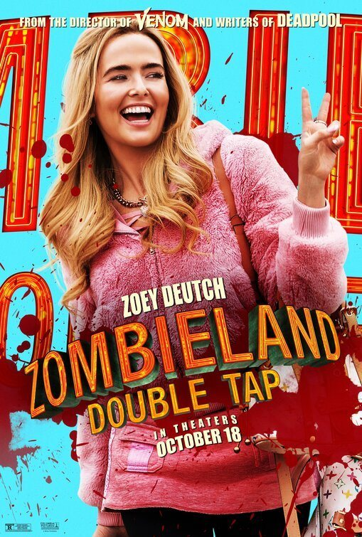 Cartel Zoey Dutch de 'Zombieland 2: Tiro de gracia'