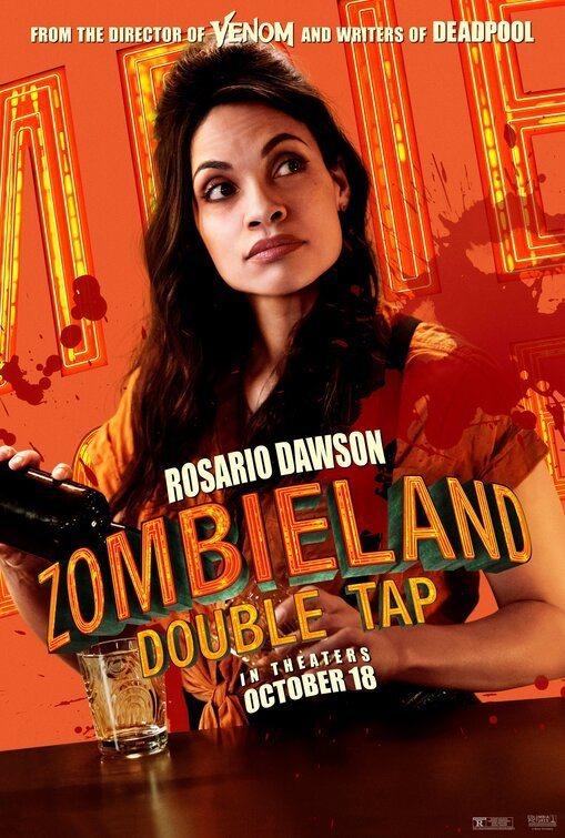 Cartel Rosario Dawson de 'Zombieland 2: Tiro de gracia'