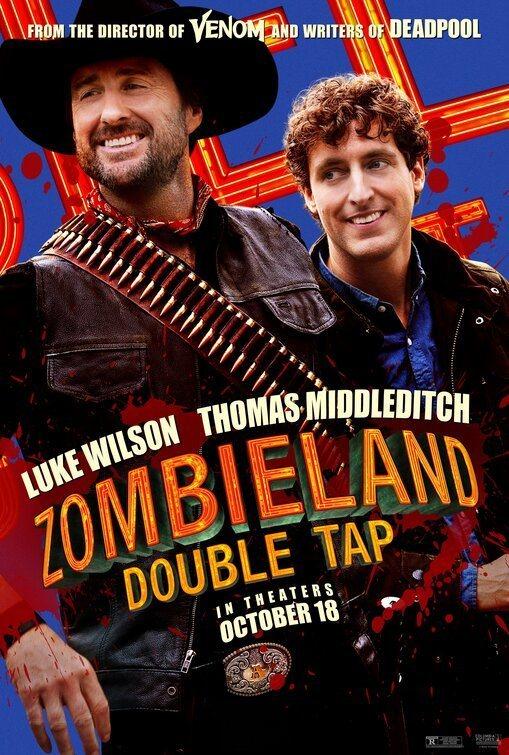 Cartel Luke Wilson y Thomas Middleditch de 'Zombieland 2: Tiro de gracia'