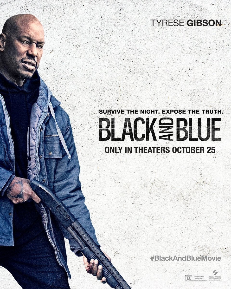 Cartel Poster Tyrese Gibson de 'Black and blue'