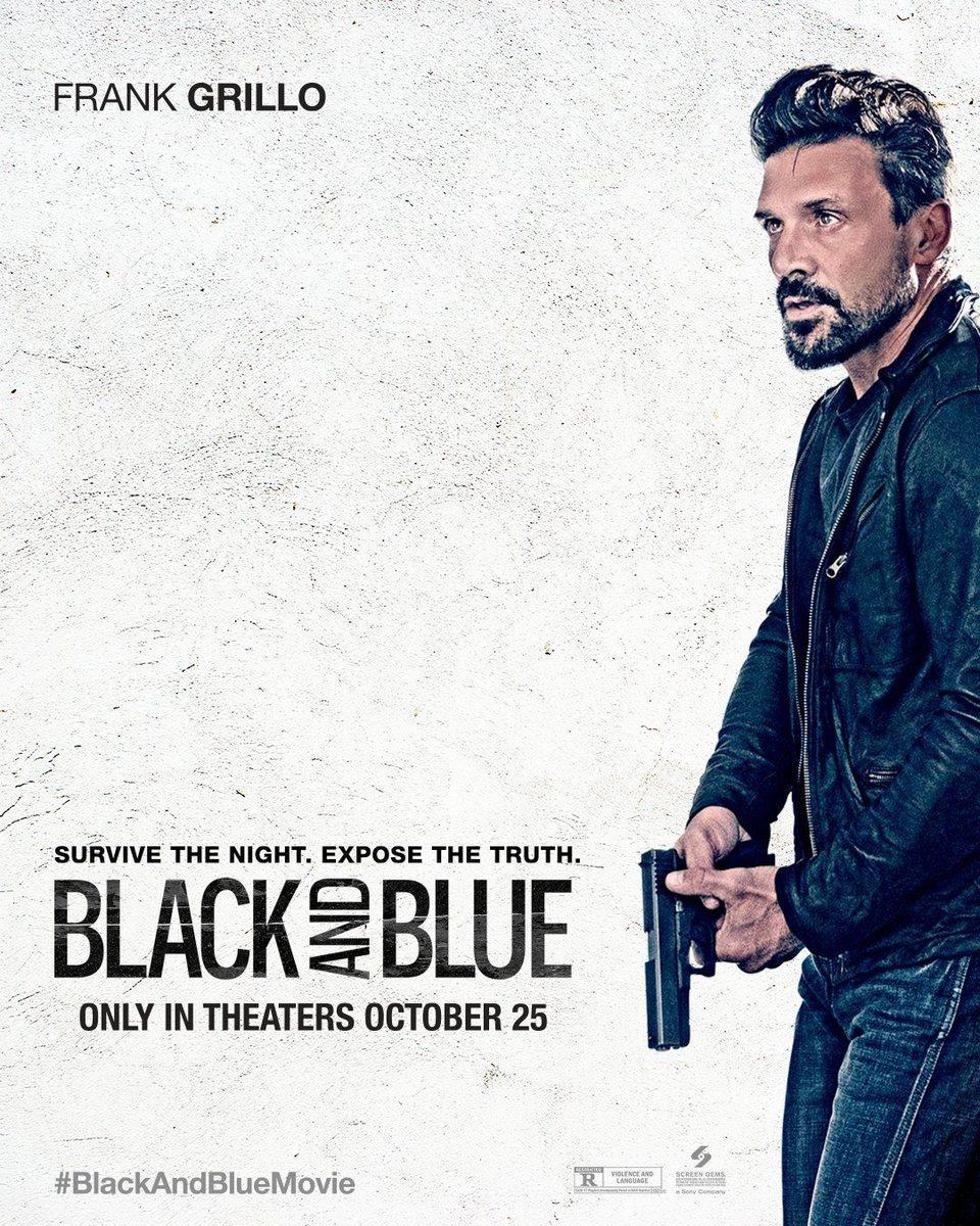 Cartel Poster Frank Grillo de 'Black and blue'