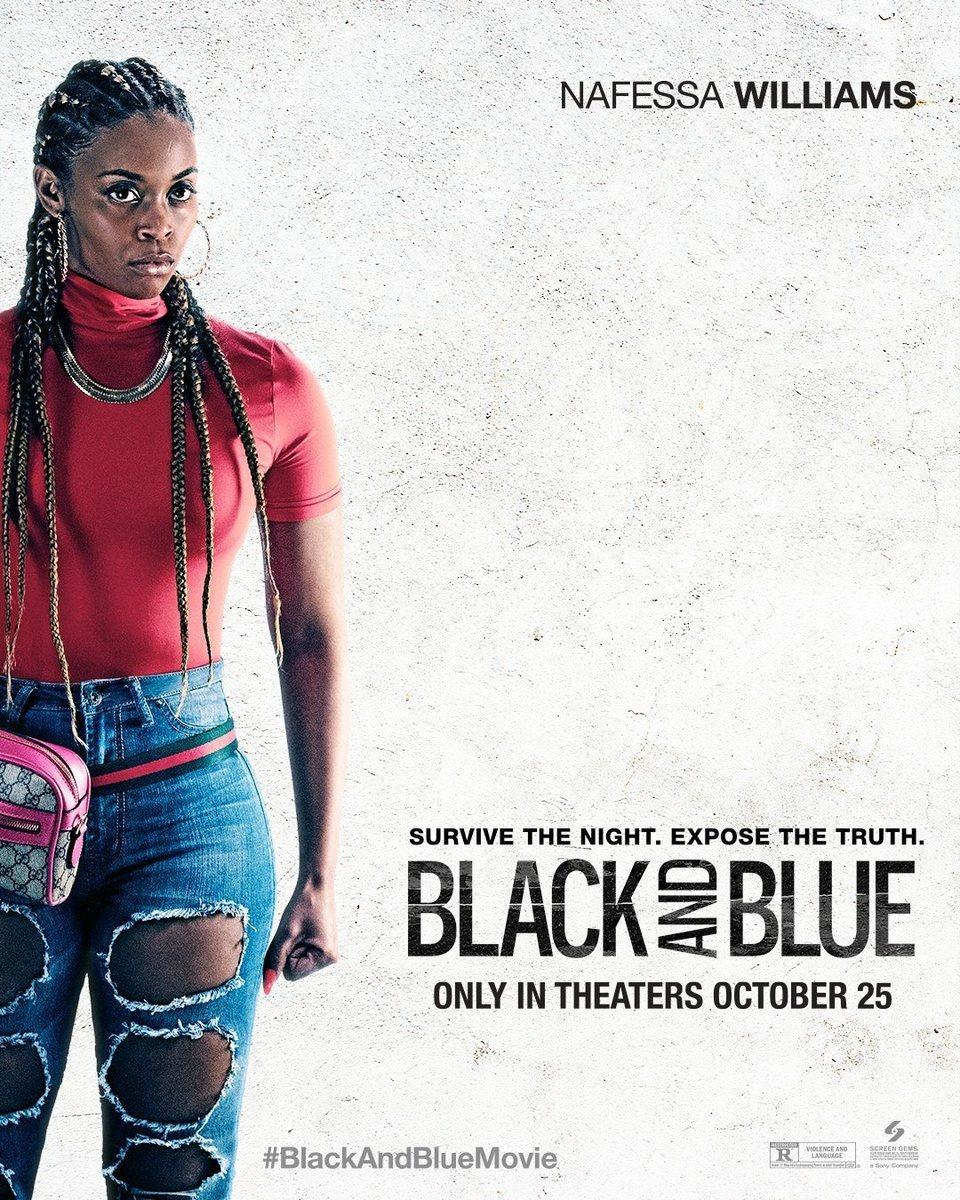 Cartel Poster Nafessa Williams de 'Black and blue'