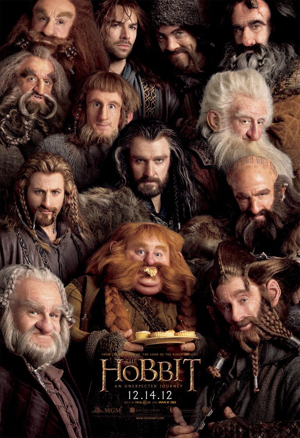 Cartel Enanos de 'El Hobbit: Un viaje inesperado'