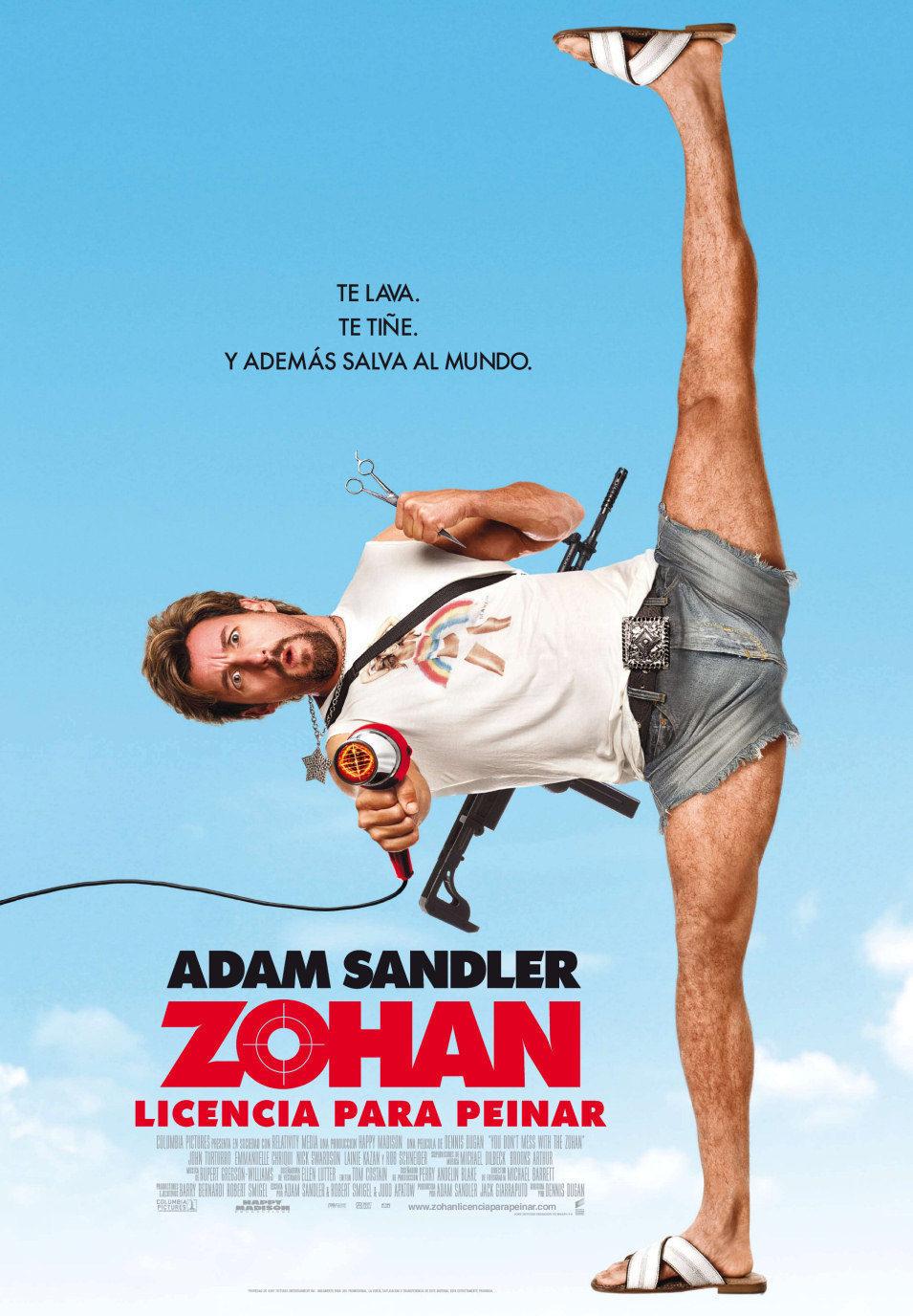 Cartel España de 'Zohan: Licencia para peinar'