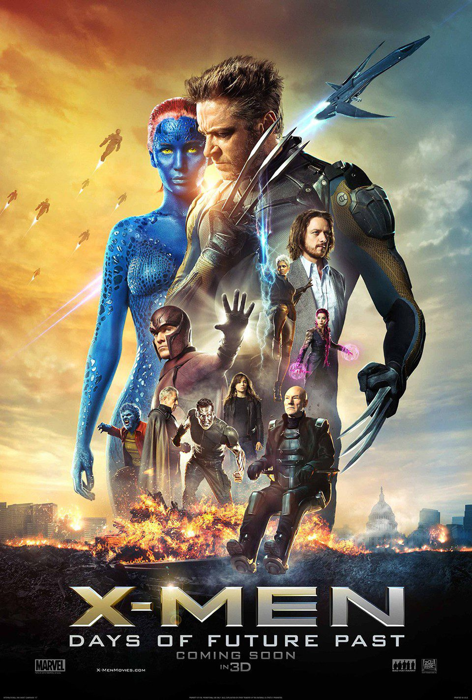 Cartel EEUU de 'X-Men: Dias del futuro pasado'