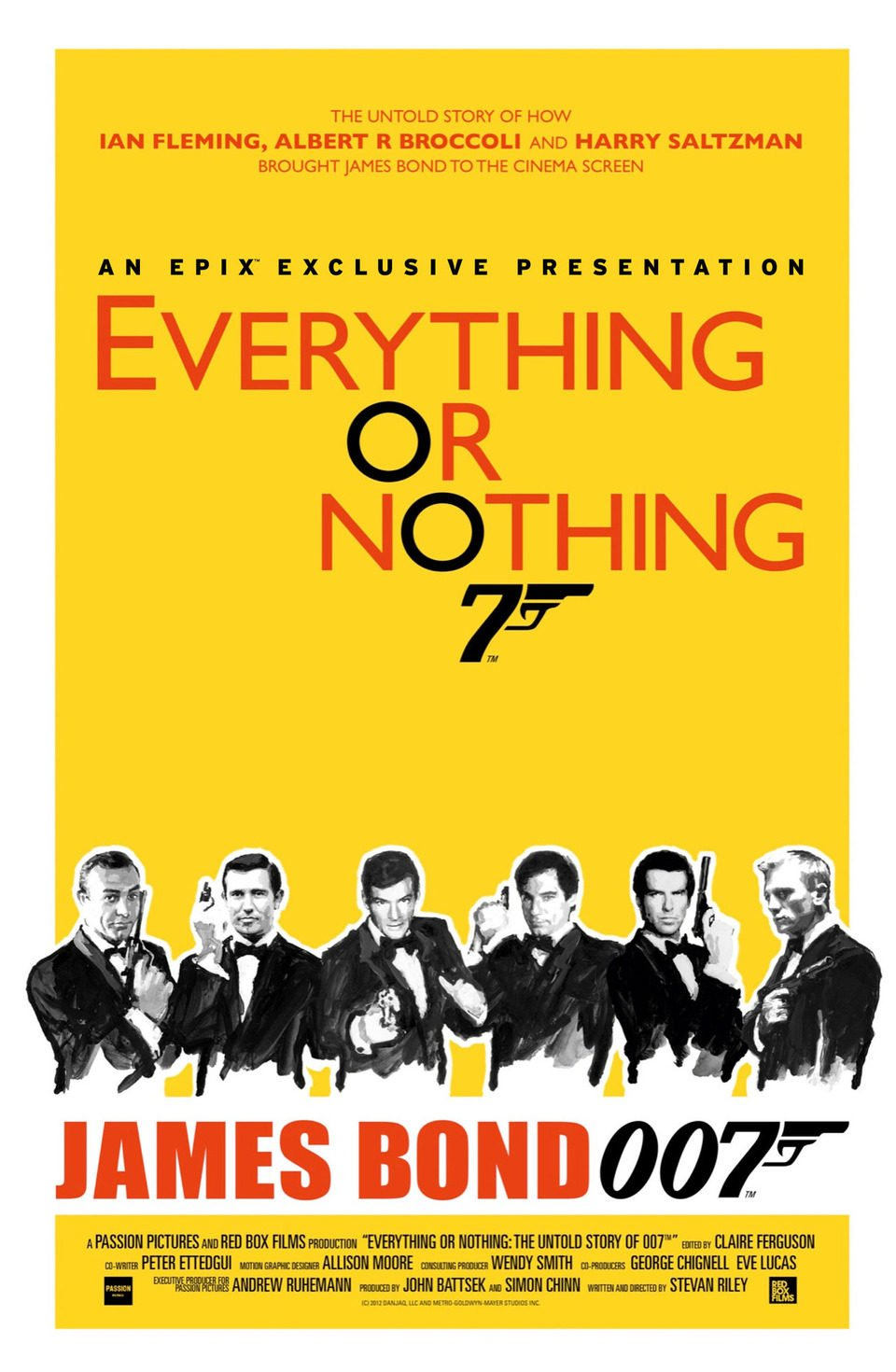 Cartel Reino Unido de 'Everything or Nothing: The Untold Story of 007'