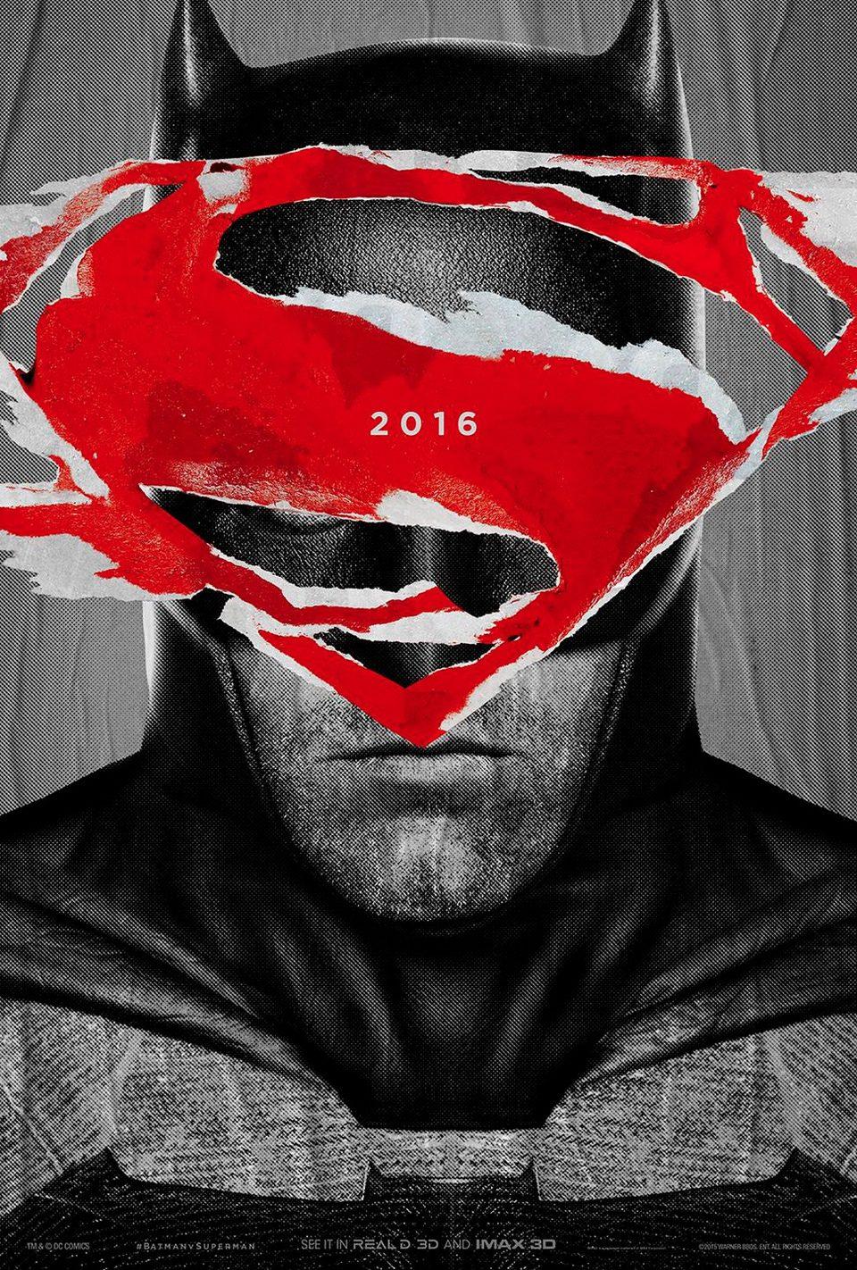 Cartel IMAX 2 de 'Batman v Superman: El origen de la justicia'