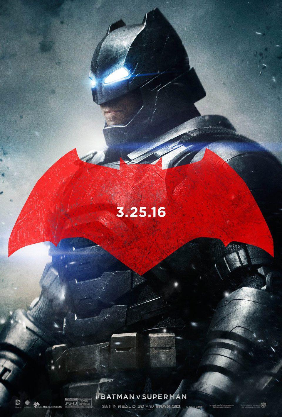 Cartel Estados Unidos de 'Batman v Superman: El origen de la justicia'