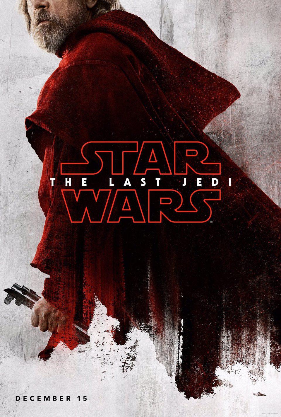 Cartel Luke Skywalker de 'Star Wars: Los últimos Jedi'