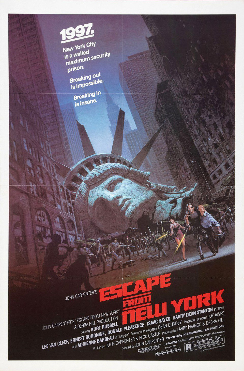 Cartel Estados Unidos de '1997: Escape de Nueva York'