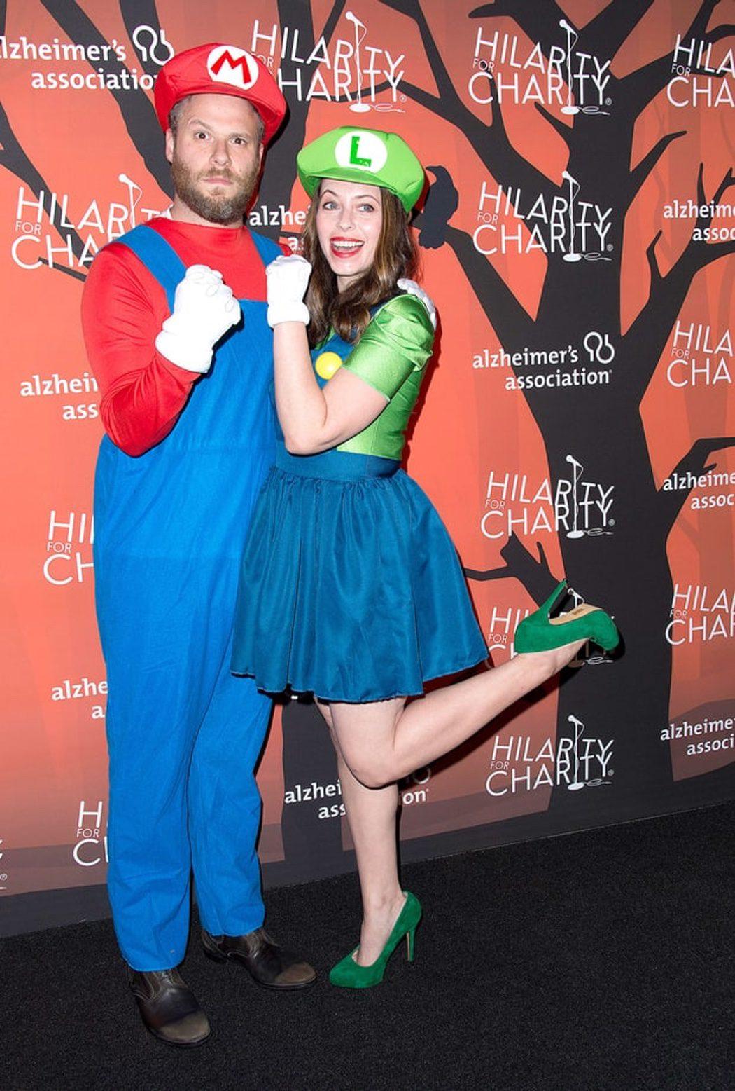 Seth Rogen y Lauren Miller de Mario y Luigi