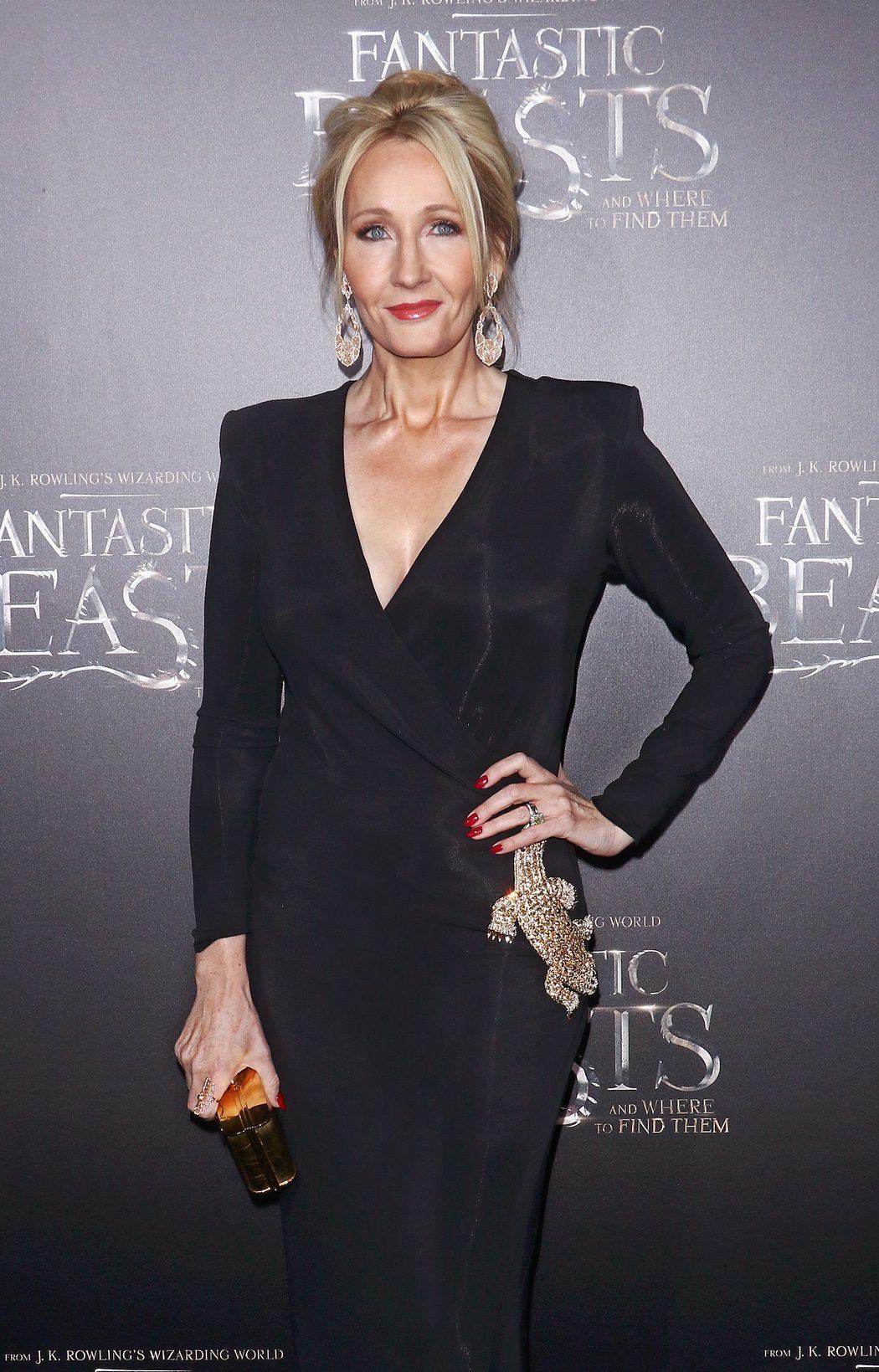J.K. Rowling en la premiere de 'Animales fantásticos y dónde encontrarlos'