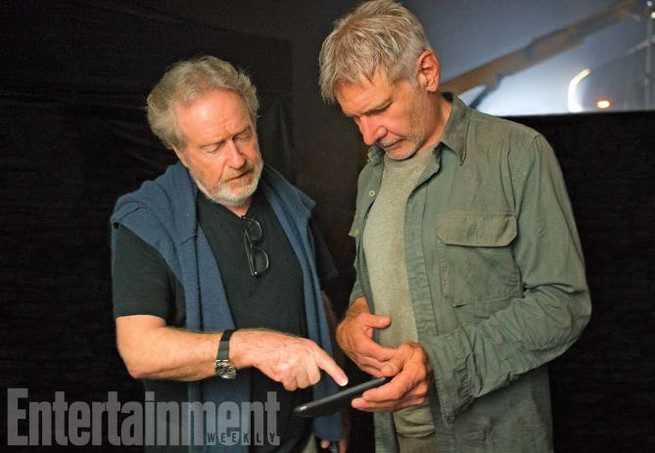 Harrison Ford y Ridley Scott