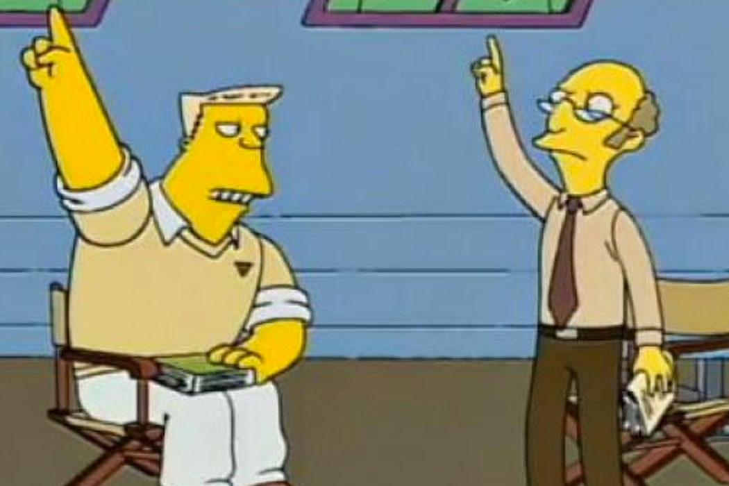 """""""¡Vámonos, Átomos!"""" (El instructor de Rainier Wolfcastle)"""