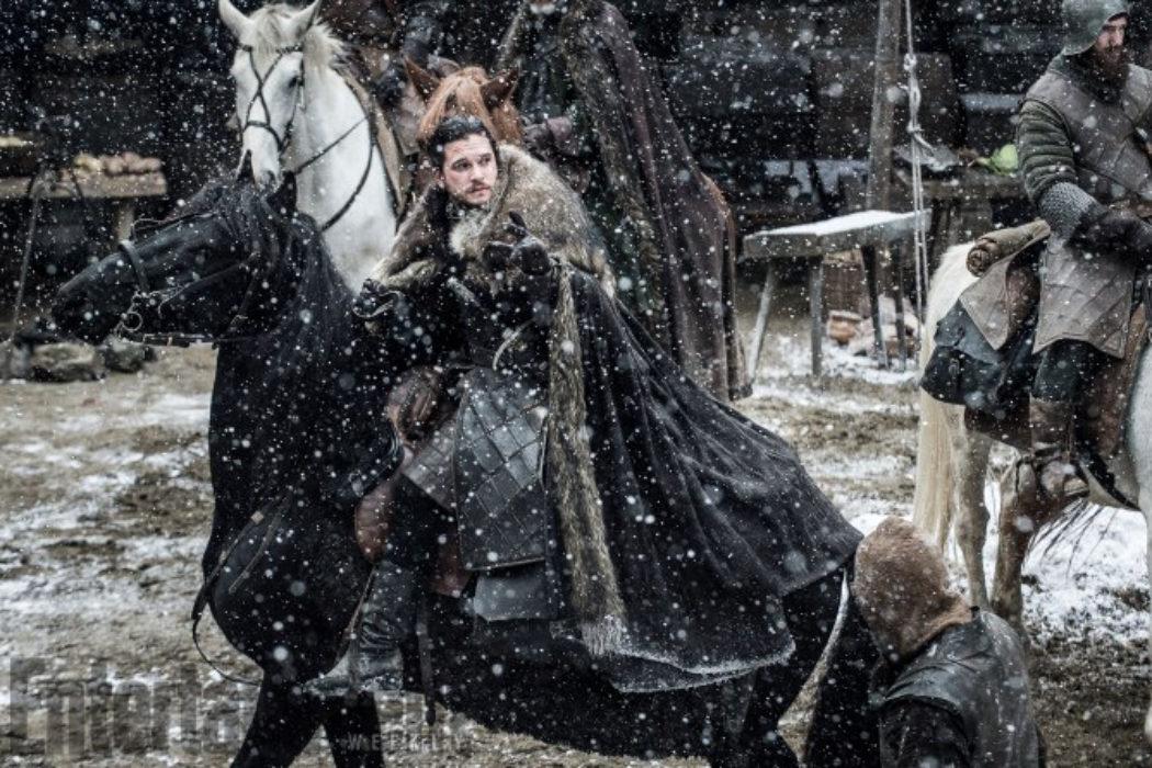 Jon Snow bajo la nieve