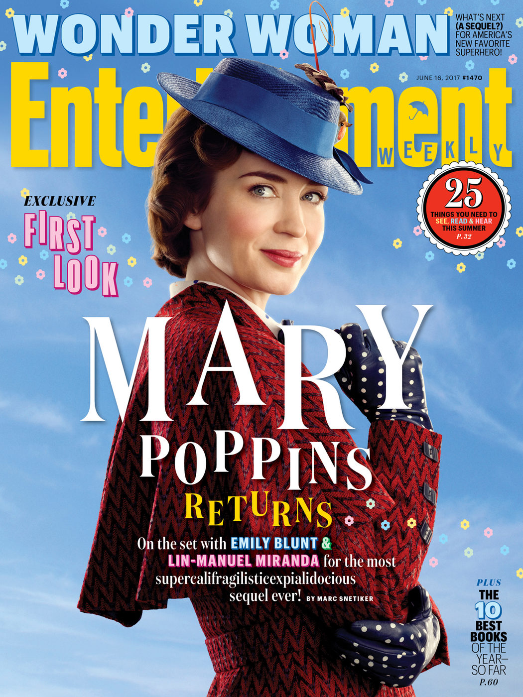 Portada de Entertainment Weekly con Emily Blunt