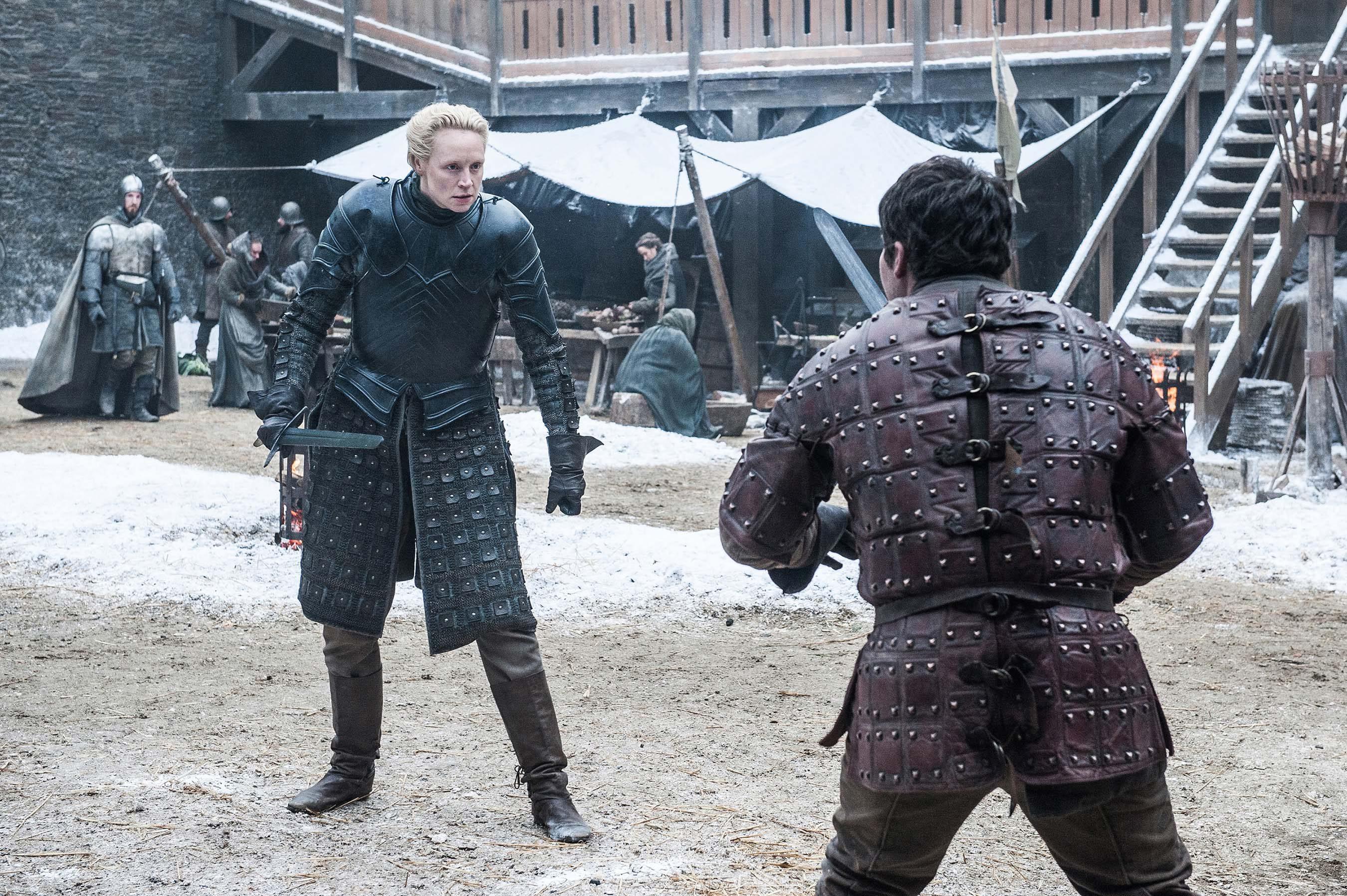 Brienne de Tarth y Podrick Payne