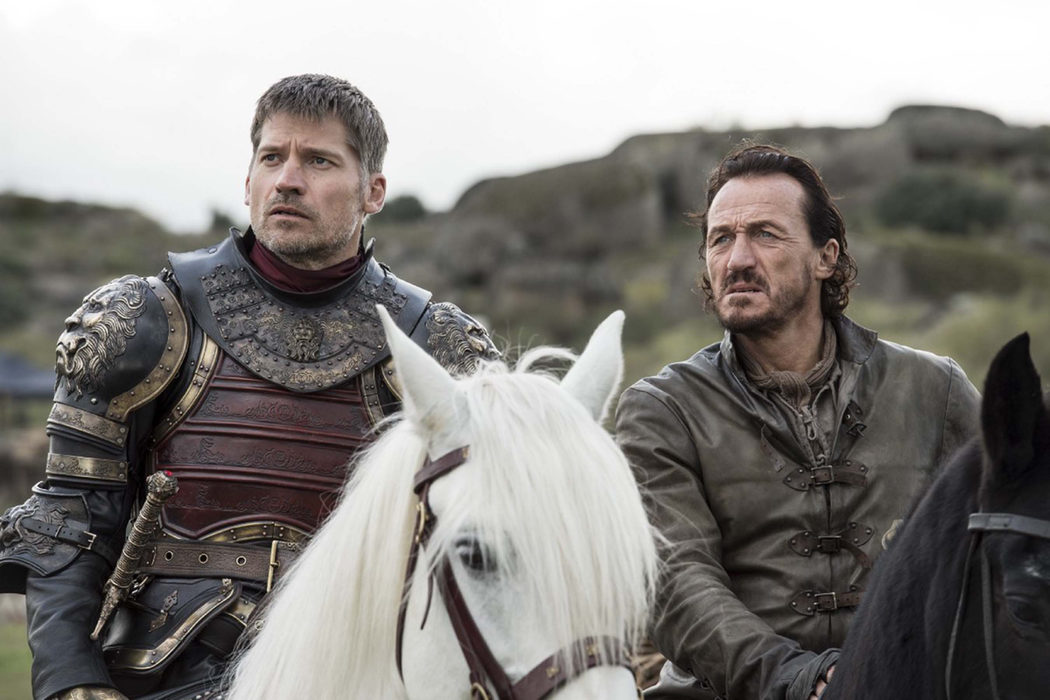 Jaime y Bronn tras tomar Altojardín