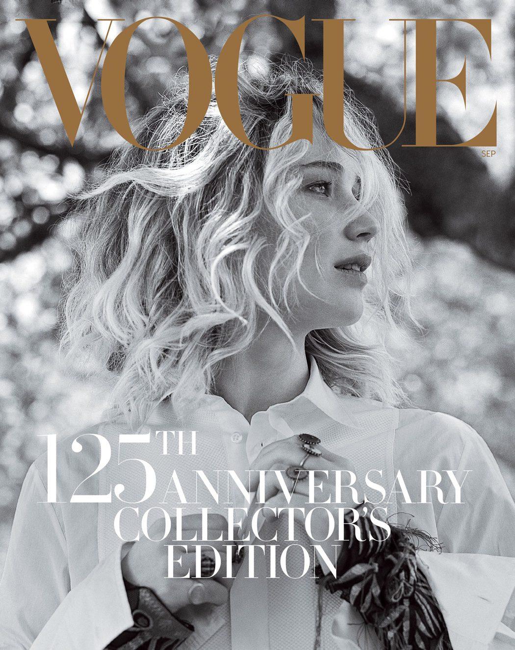 Jennifer Lawrance para la portada de septiembre de Vogue