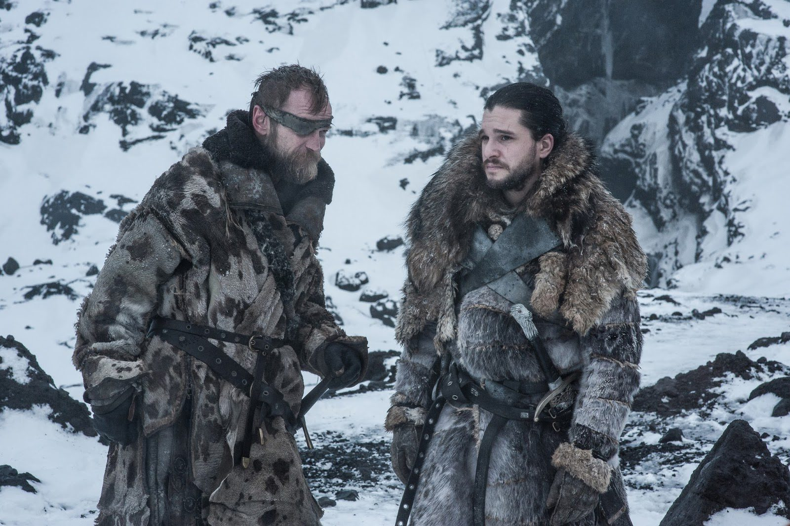 Jon Snow y Beric Dondarrion