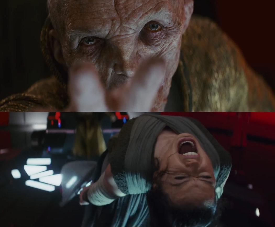El Líder Supremo Snoke tortura a Rey