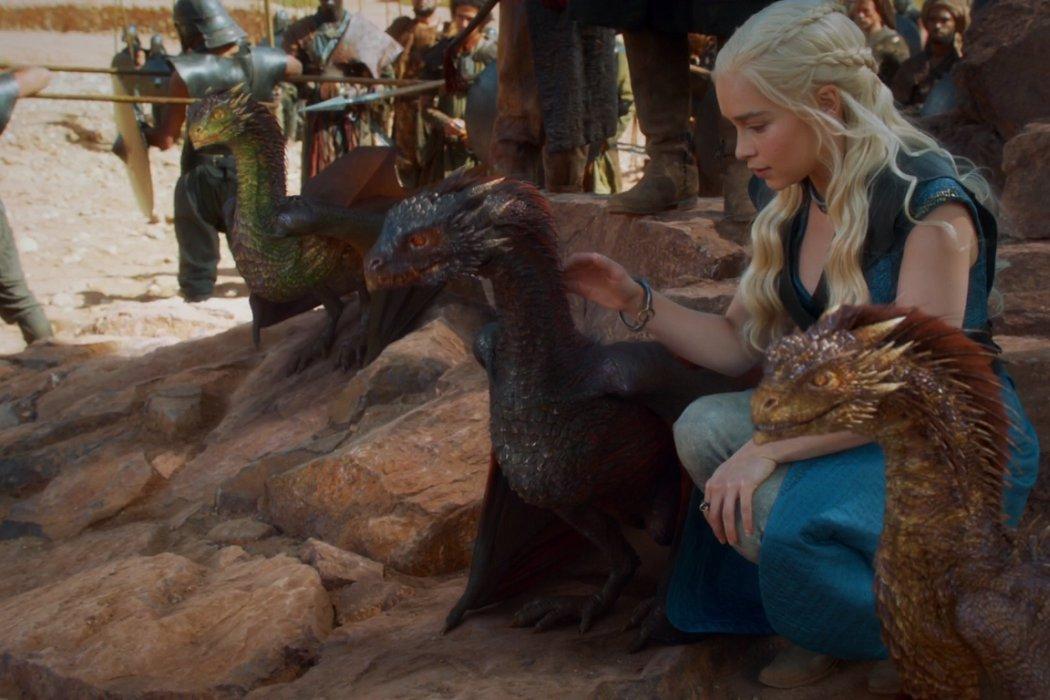 Daenerys y Viserion