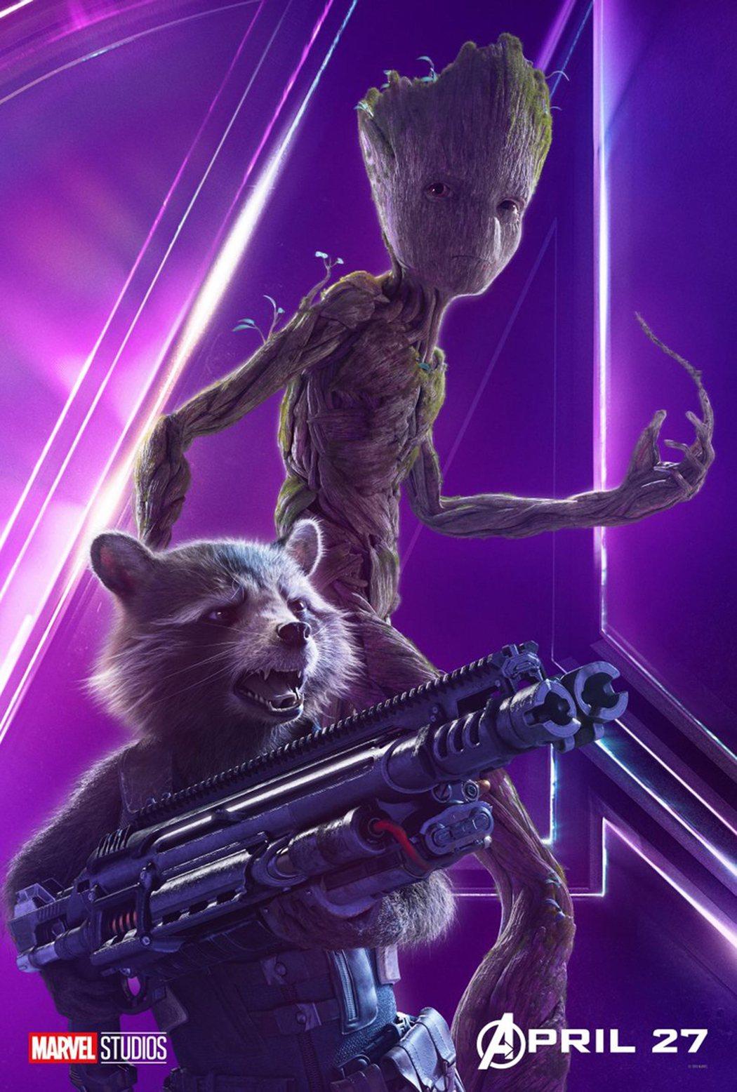 Groot y Rocket