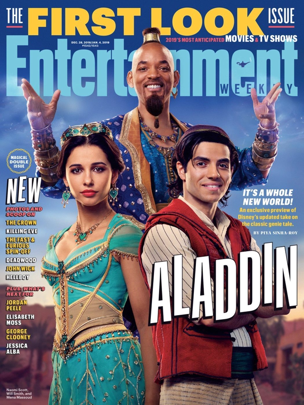 Jasmine, el Genio y Aladdin
