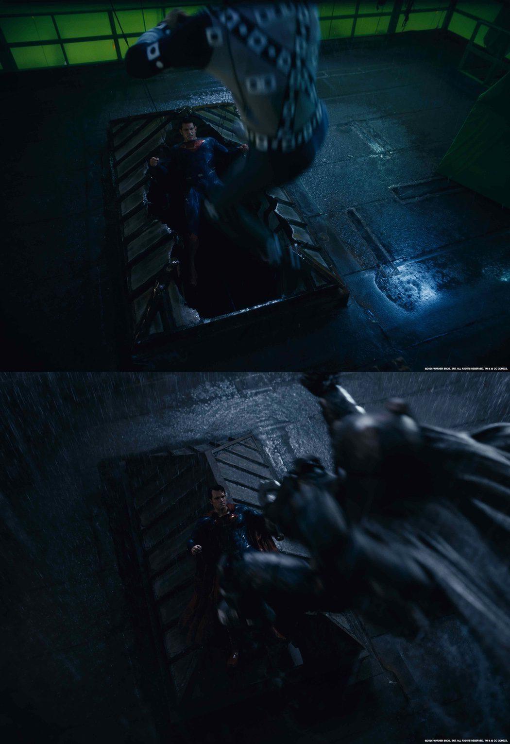 La pelea de Batman y Superman antes de los efectos especiales