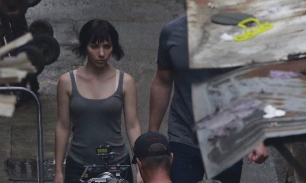 Scarlett Johansson en el rodaje de 'Ghost in the Shell' en Hong Kong