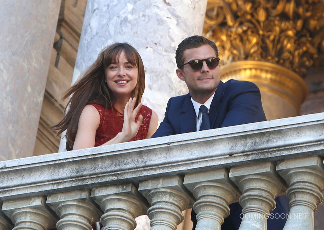 Dakota Johnson y Jamie Dornan en París