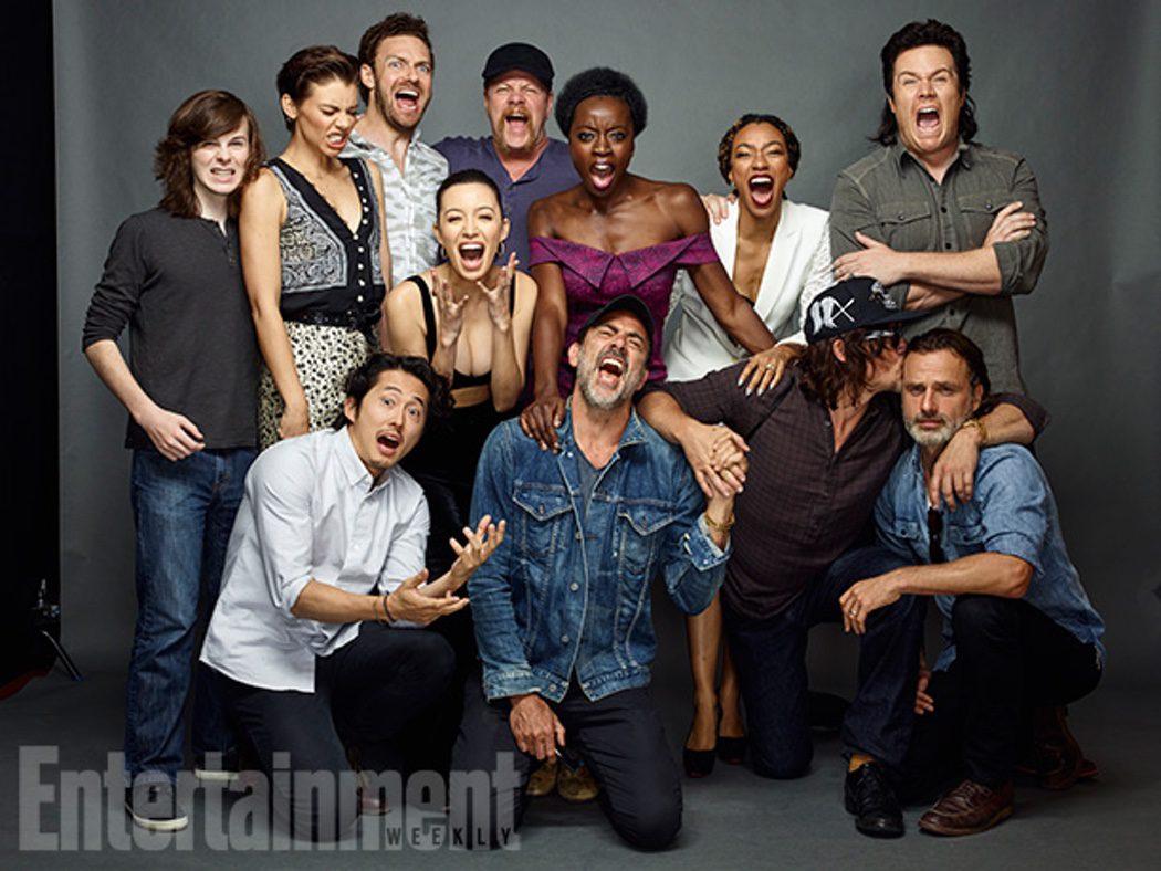Jeffrey Dean Morgan y el resto del reparto de 'The Walking Dead'